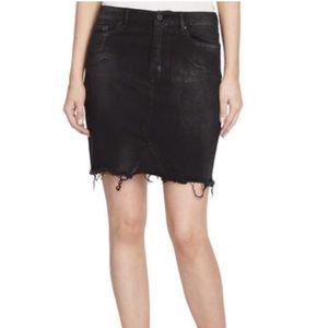 NWT William Rast Aria Metallic Denim Skirt